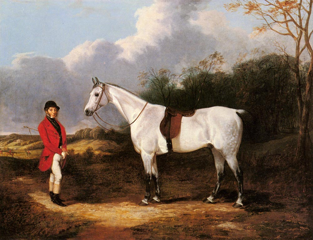 Mr Stillwell With His Favorite Hunter | Abraham Cooper | Oil Painting