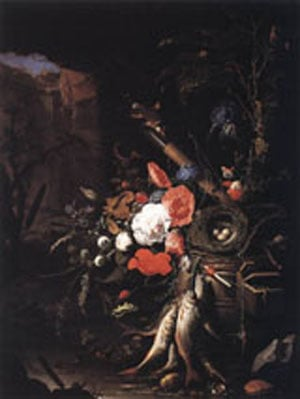 Still Life With Fishes And Bird Nest 1670 | Abraham Mignon | Oil Painting
