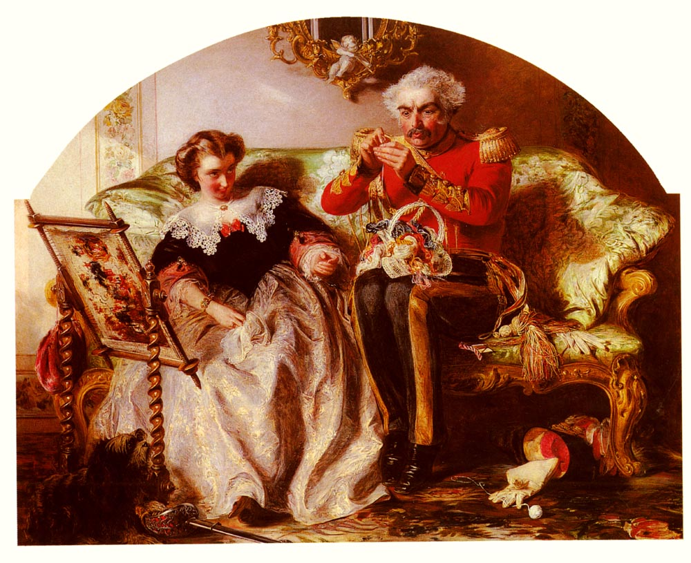 The Lion In Love | Abraham Solomon | Oil Painting