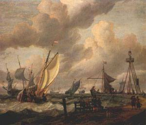 Shipping 1690s | Abraham Storck | Oil Painting