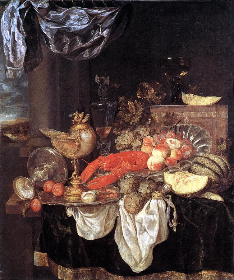 Large Still Life With Lobster 1653 | Abraham Van Beyeren | Oil Painting