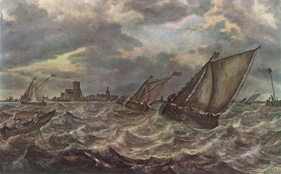 Rough Sea | Abraham Van Beyeren | Oil Painting