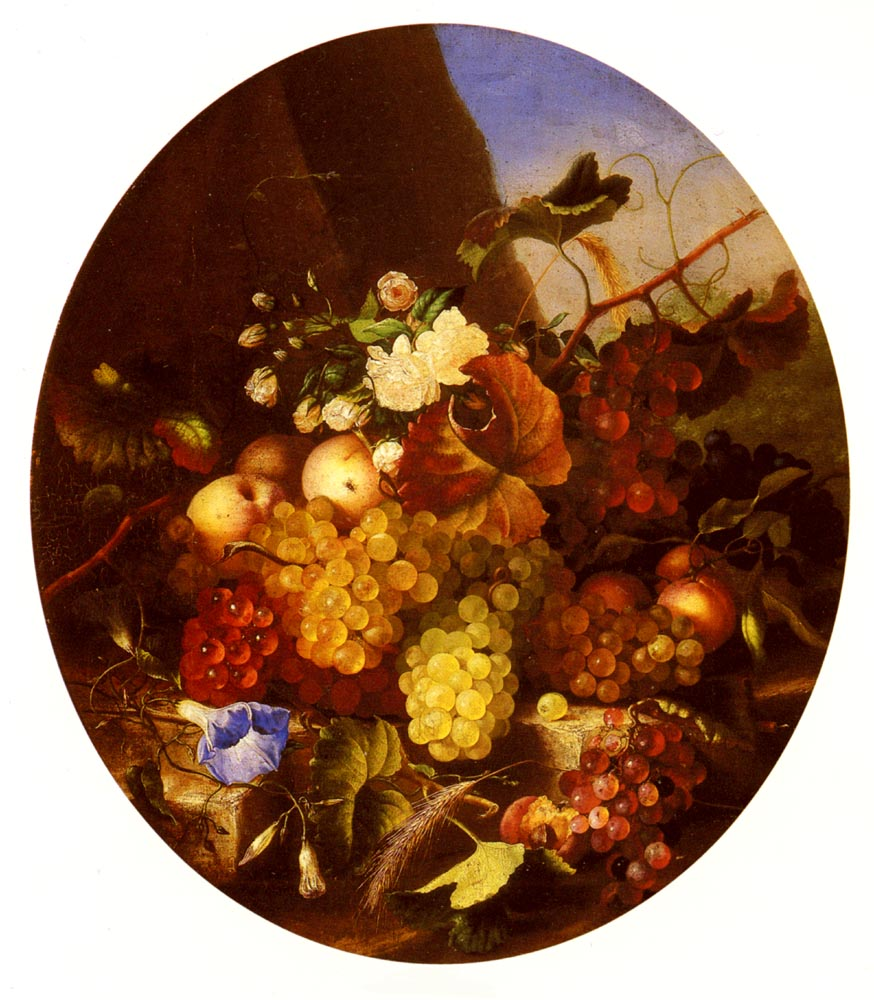Still Life Of Fruit And Flowers | Adelheid Dietrich | Oil Painting