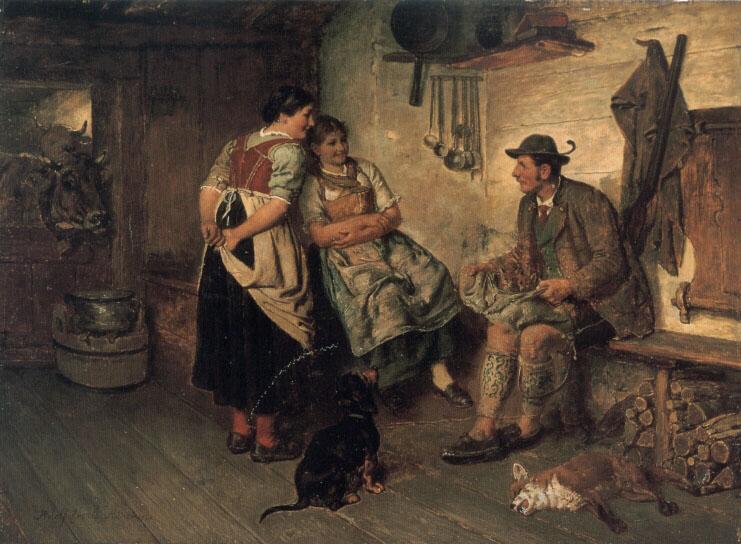 Die Jungen Fuchse | Adolf Eberle | Oil Painting