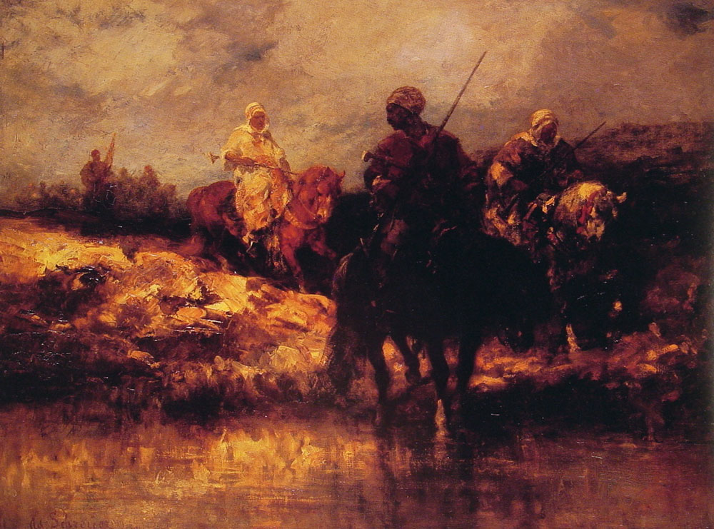 Arabs on Horseback | Adolf Schreyer | Oil Painting