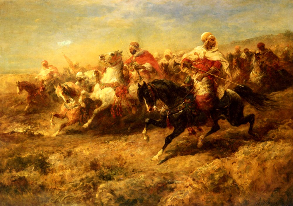 Arabian Horsemen | Adolf Schreyer | Oil Painting