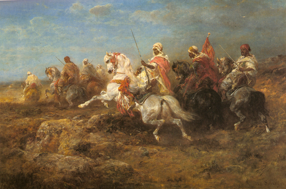 Arabian Patrol | Adolf Schreyer | Oil Painting