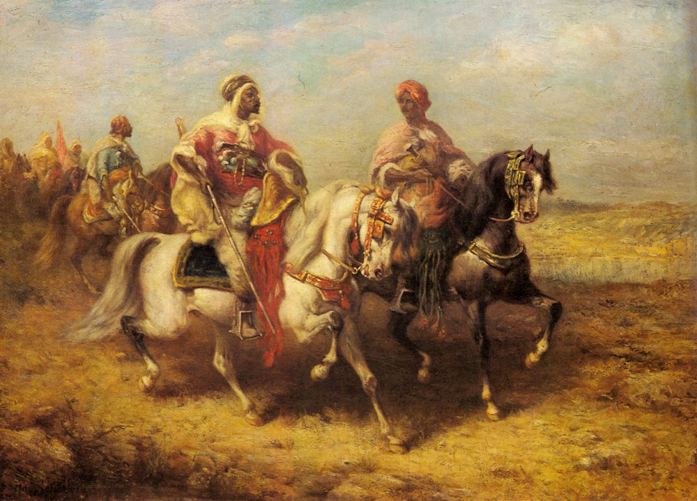 Arab Chieftain And His Entourage | Adolf Schreyer | Oil Painting