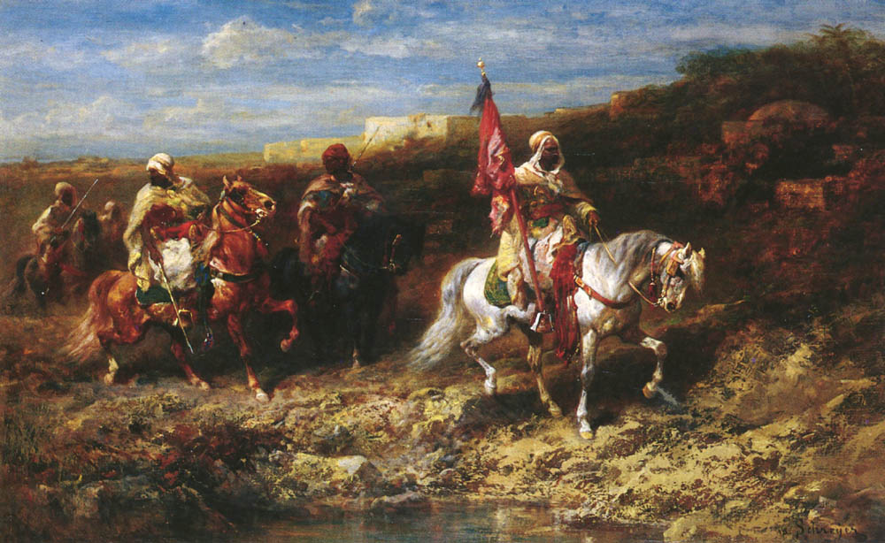 Arab Horseman In A Landscape | Adolf Schreyer | Oil Painting