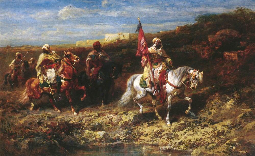 Arab Horseman In A Landscape | Adolf Schreyer | Oil Painting