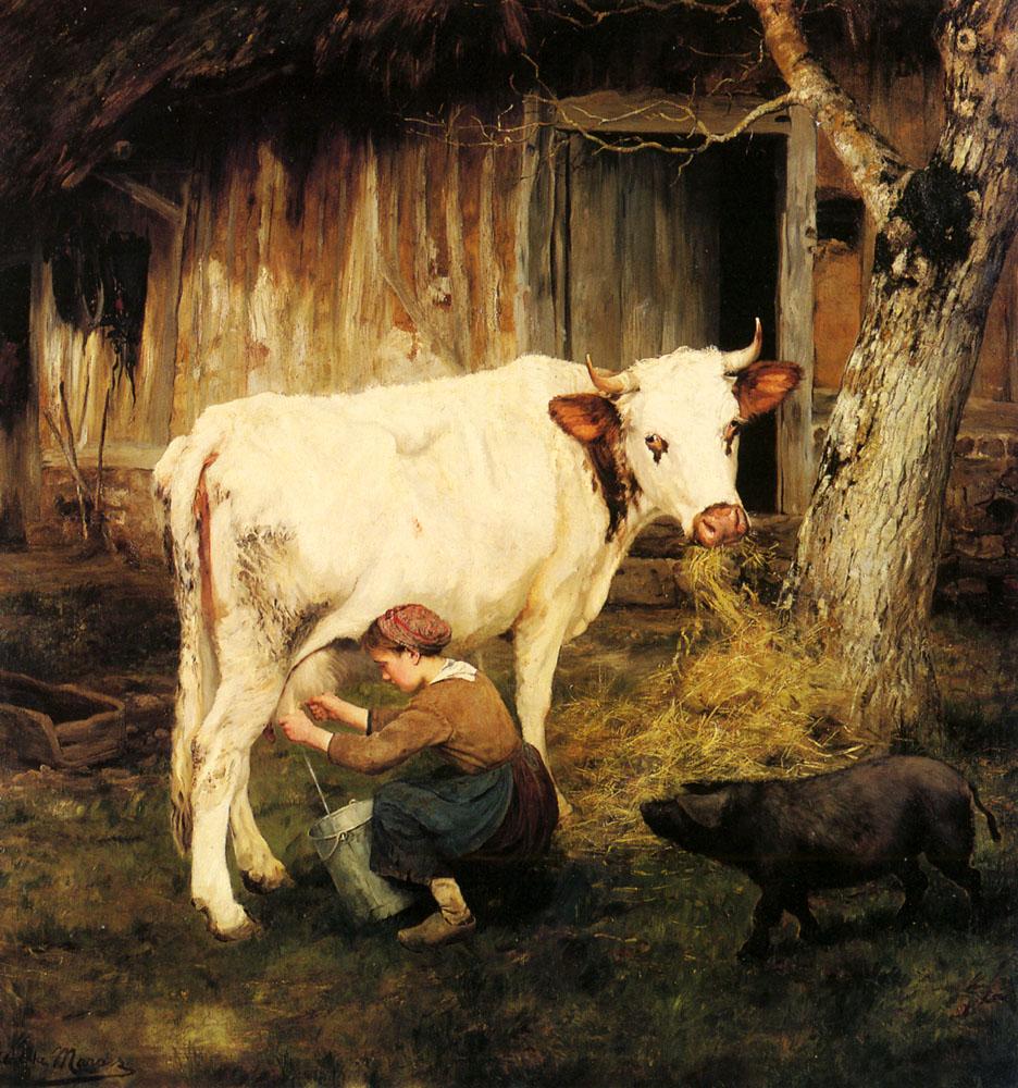 The Milkmaid | Adolphe Charles Marais | Oil Painting