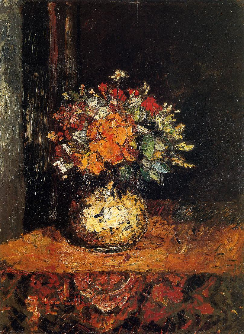 Bouquet of Flowers2 | Adolphe-Joseph-Thomas Monticelli | Oil Painting