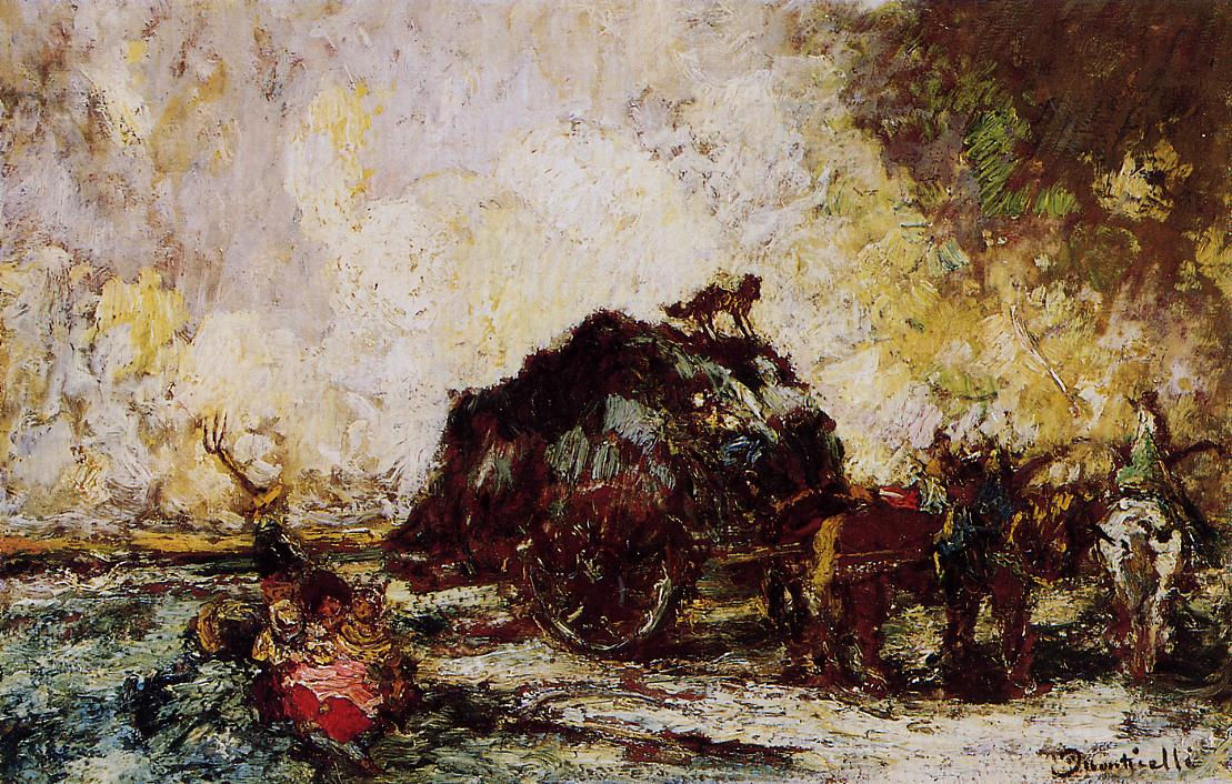 The Hay Card 1882 | Adolphe-Joseph-Thomas Monticelli | Oil Painting