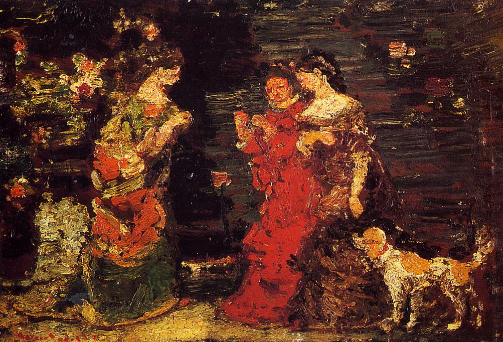 The Promenade | Adolphe-Joseph-Thomas Monticelli | Oil Painting