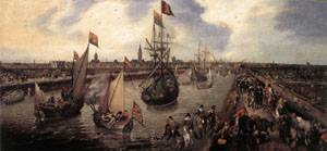 The Harbour Of Middelburg 1625 | Adriaen Pietersz Van De Venne | Oil Painting