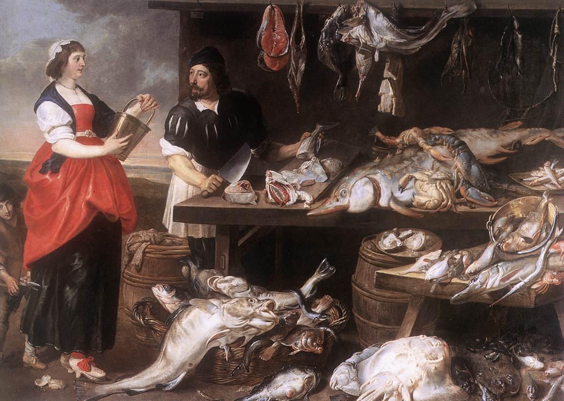 Fishmonger's Stall | Adriaen Van Utrecht | Oil Painting
