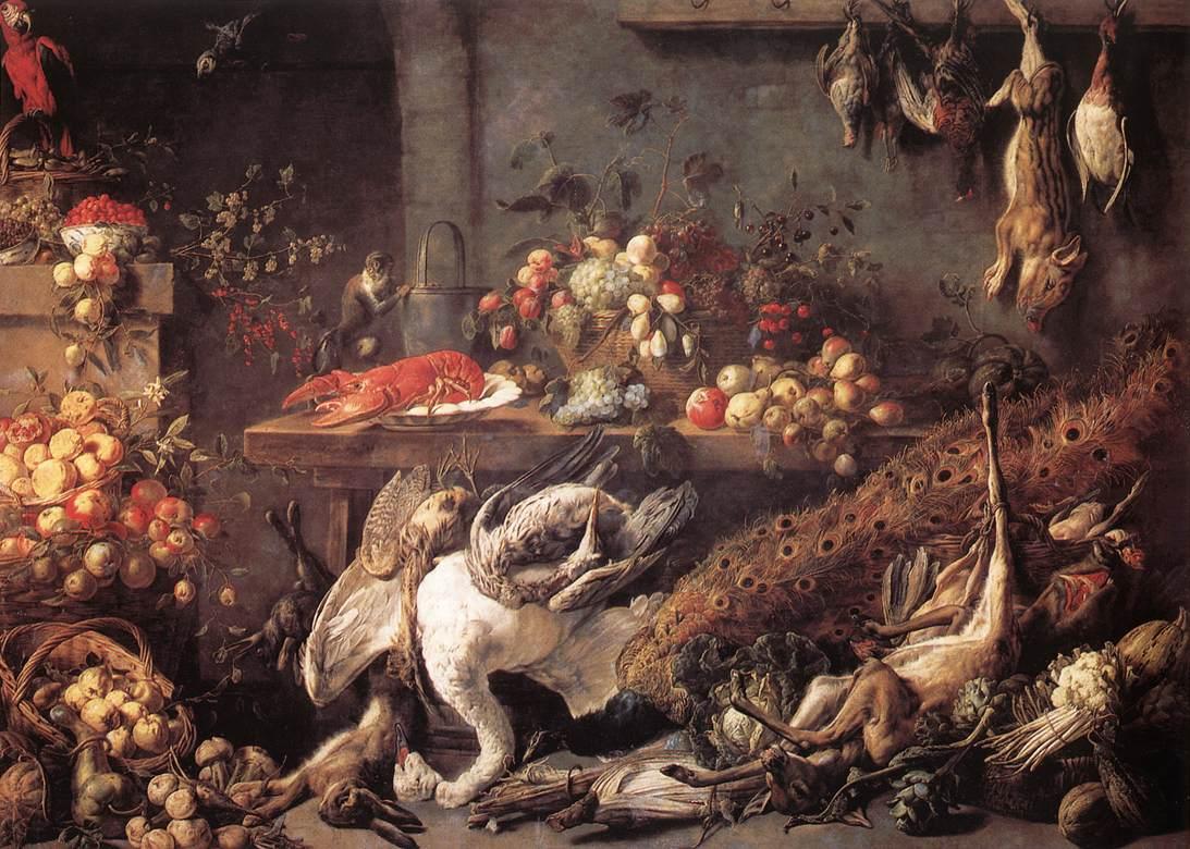 The Pantry 1642   Adriaen Van Utrecht   Oil Painting