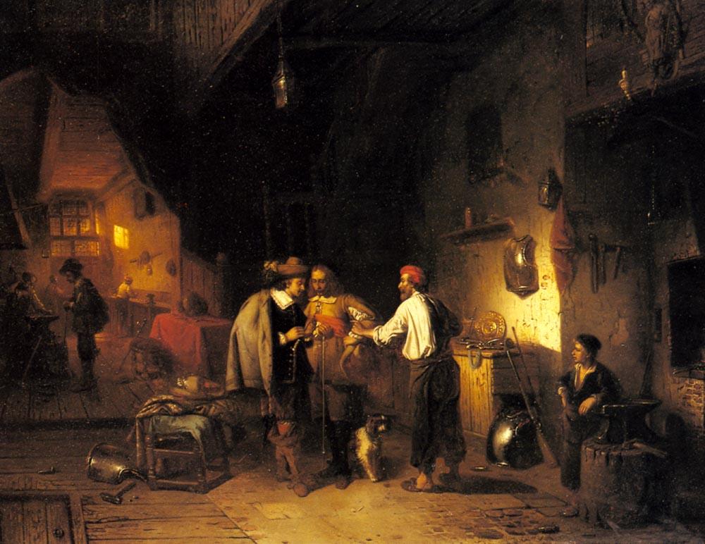 The Armor Shop | Adrien Ferdinand De Braekeleer | Oil Painting