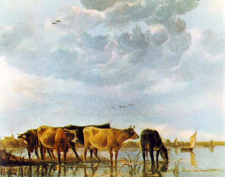 Cows In The Water | Aelbert Cuyp | Oil Painting