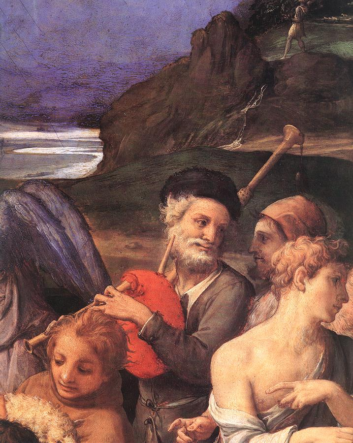 Adoration Of The Shepherds (Detail) 2 1535-40 | Agnolo Bronzino | Oil Painting