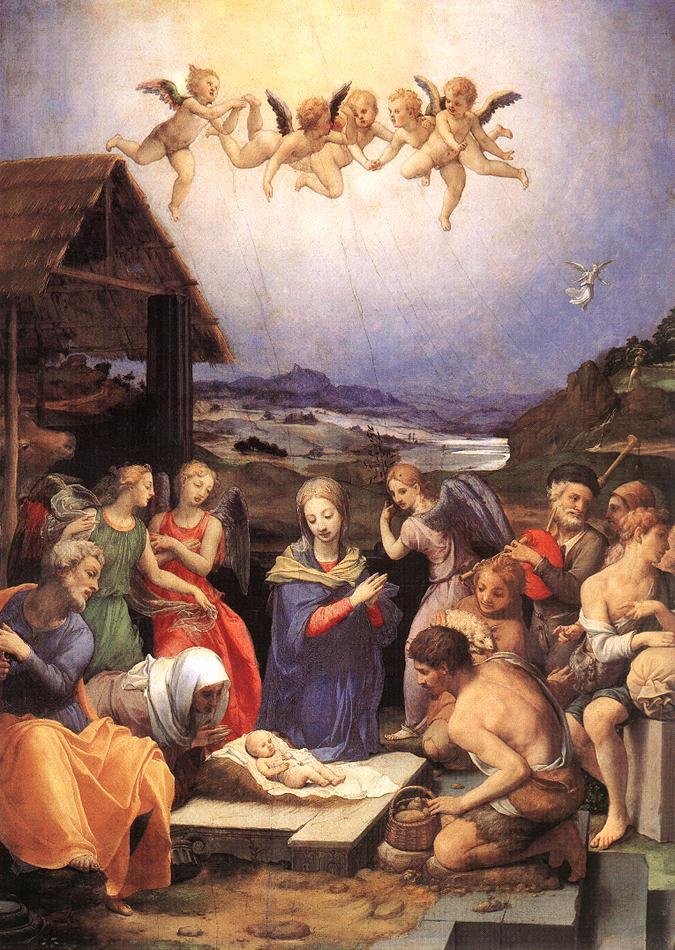 Adoration Of The Shepherds 1535-40 | Agnolo Bronzino | Oil Painting