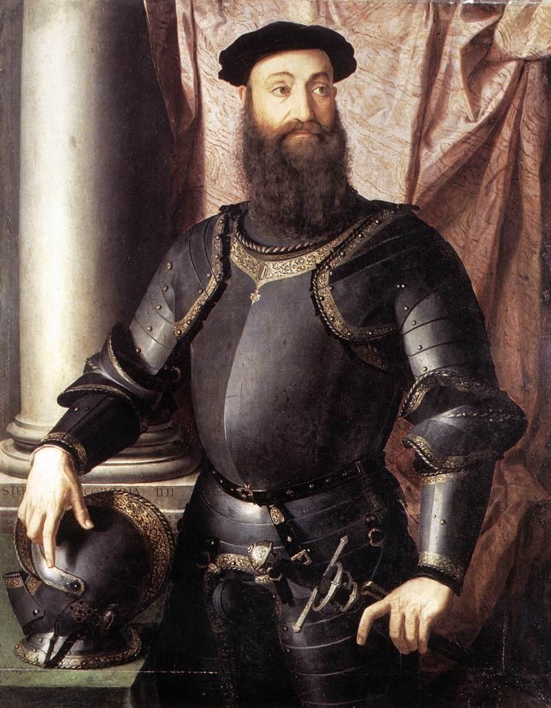 Cosimo I De Medici In Armour 1545 | Agnolo Bronzino | Oil Painting