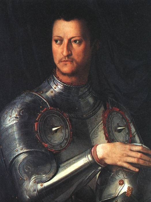 Cosimo I De Medici In Armour 2 1545 | Agnolo Bronzino | Oil Painting