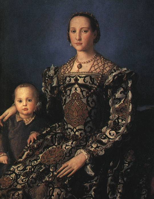 Eleonora Of Toledo With Her Son Giovanni De Medici 1544-45 | Agnolo Bronzino | Oil Painting