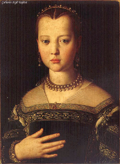 Portrait Of Maria De Medici 1551 | Agnolo Bronzino | Oil Painting