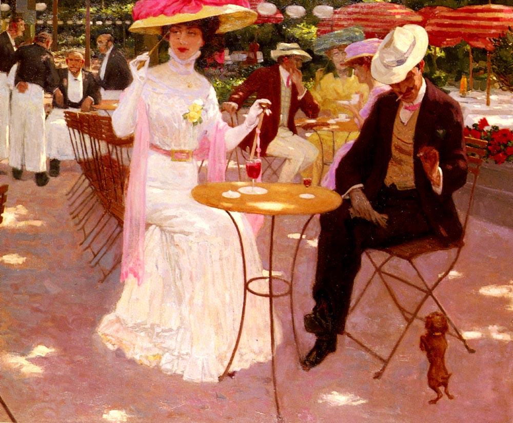 Au Cafe | Aime Stevens | Oil Painting