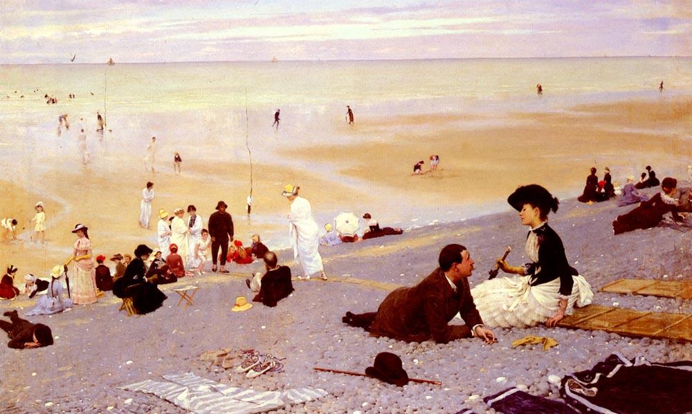Sur Les Galets   Albert Aublet   Oil Painting
