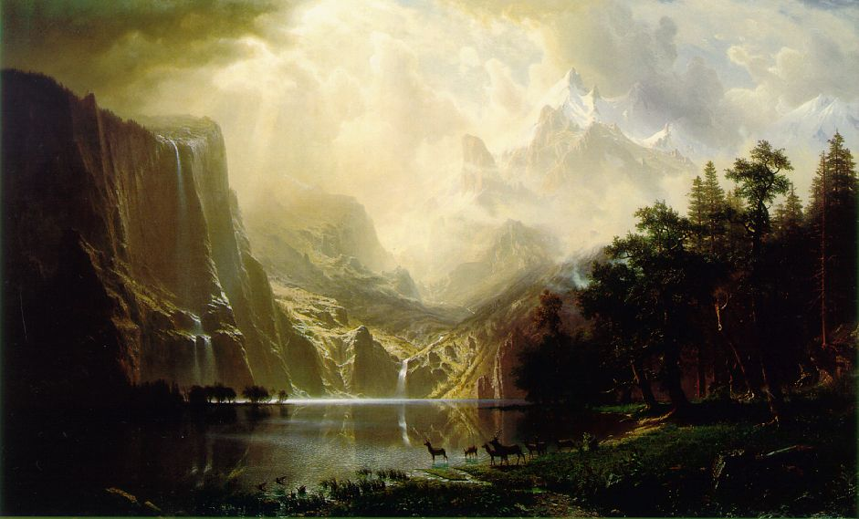 Among The Sierra Nevada Mountains California 1868 | Albert Bierstadt | Oil Painting