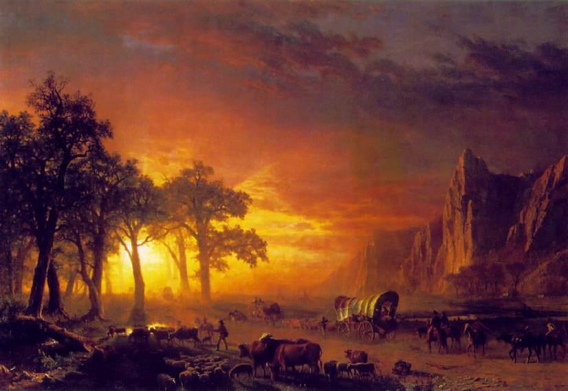 Emigrants Crossing The Plains 1867 | Albert Bierstadt | Oil Painting