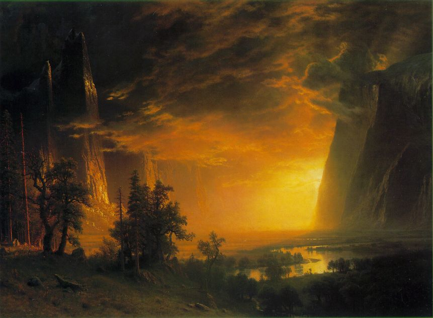 Sunset In The Yosemite Valley 1868 | Albert Bierstadt | Oil Painting