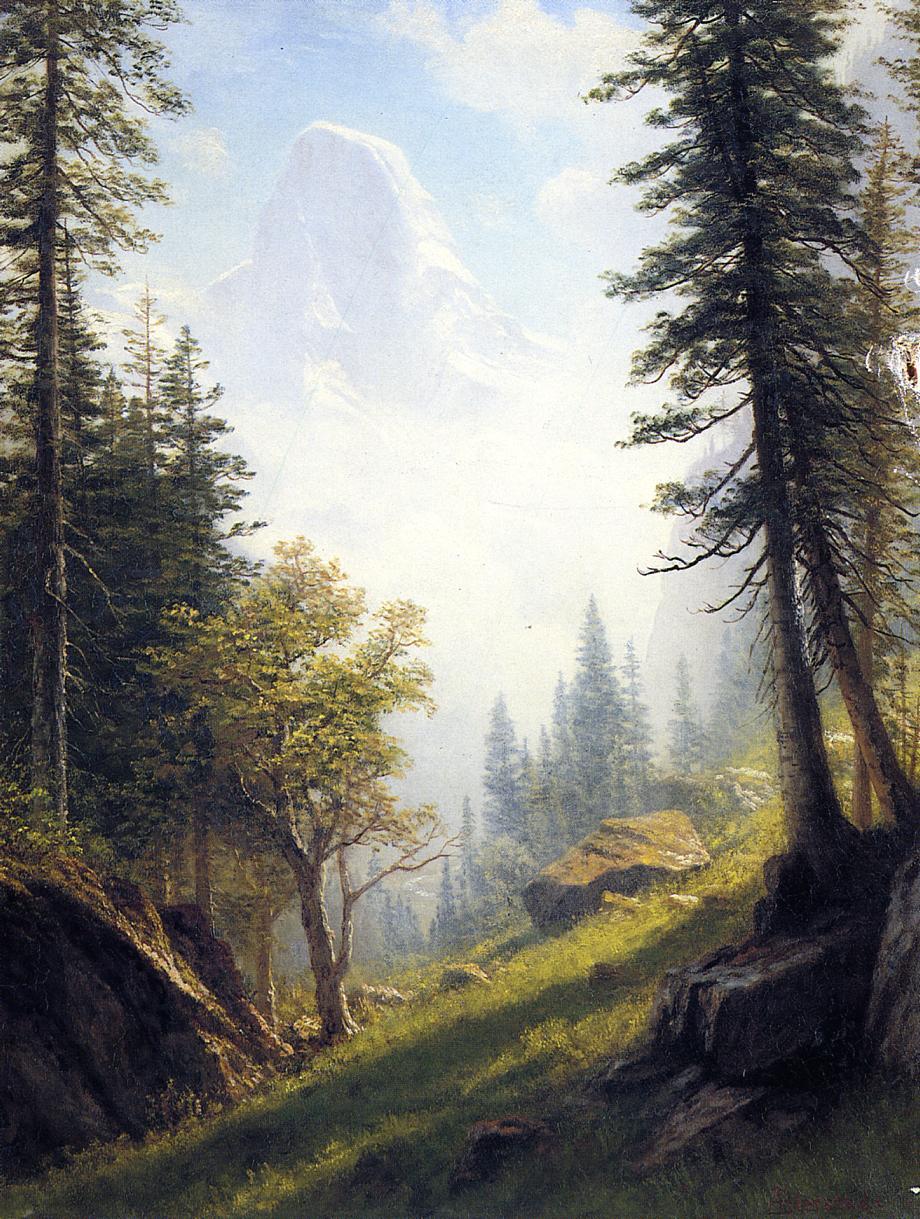Among the Bernese Alps | Albert Bierstadt | Oil Painting