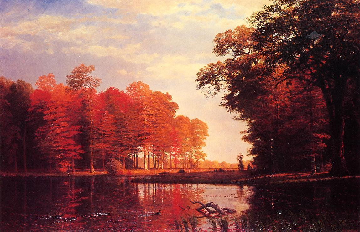 Autumn Woods 1886 | Albert Bierstadt | Oil Painting