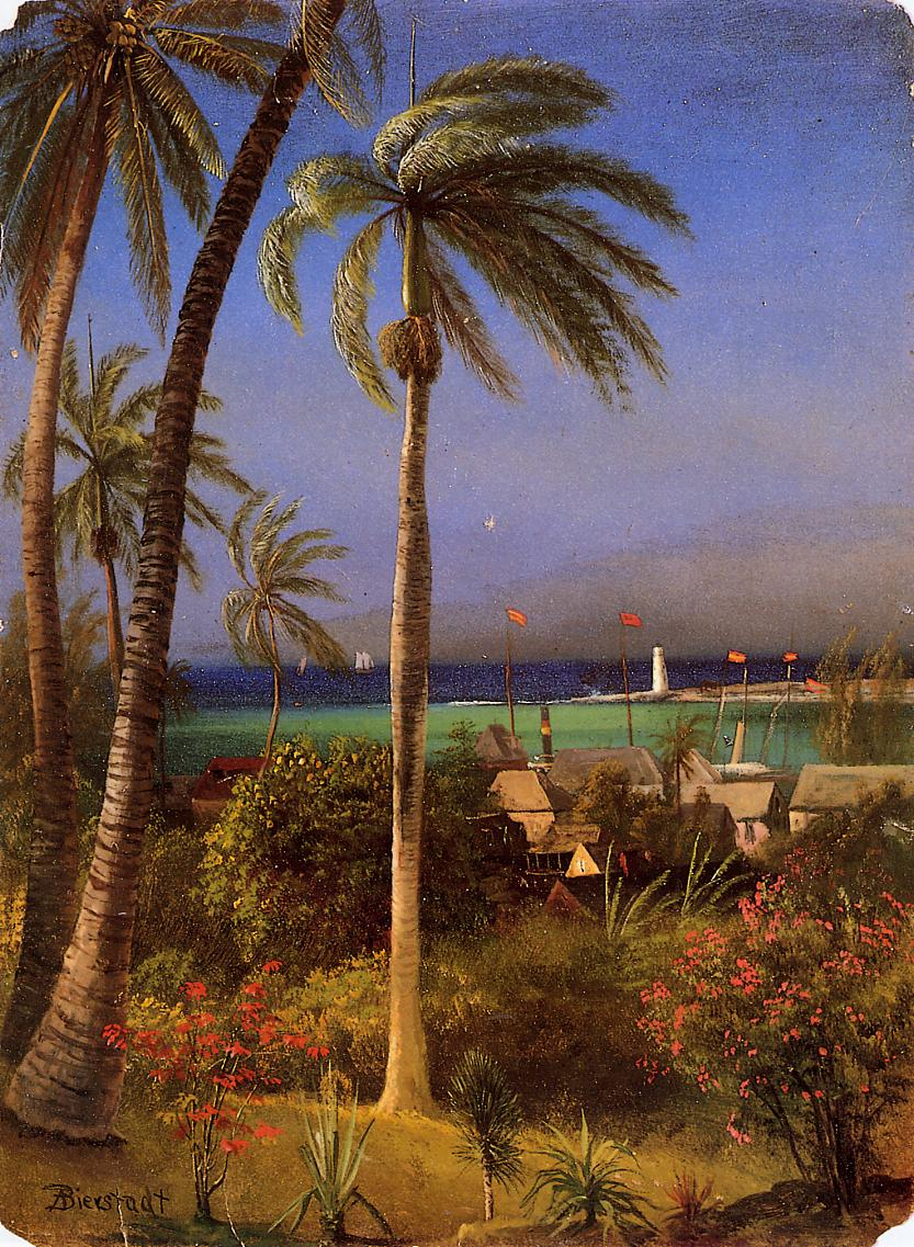 Bahamian View | Albert Bierstadt | Oil Painting