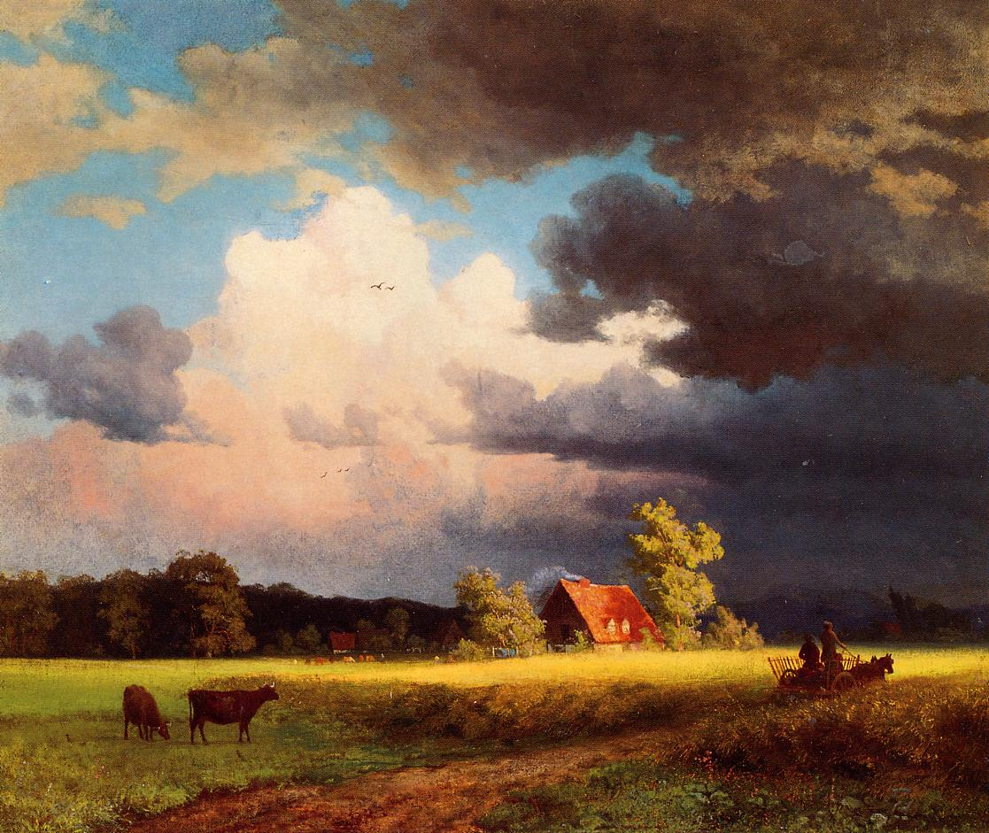 Bavarian Landscape | Albert Bierstadt | Oil Painting