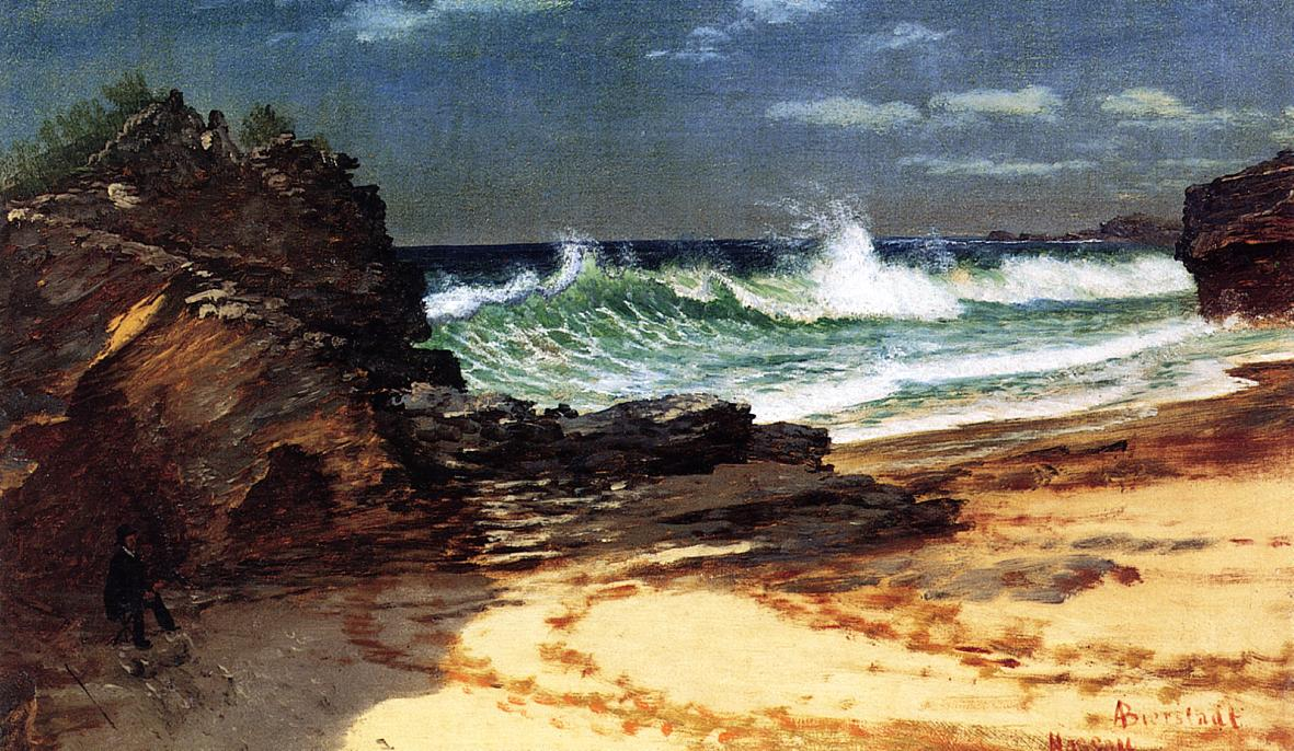 Beach at Nassau | Albert Bierstadt | Oil Painting