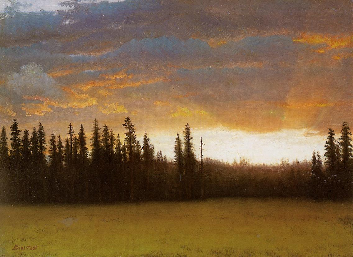California Sunset | Albert Bierstadt | Oil Painting