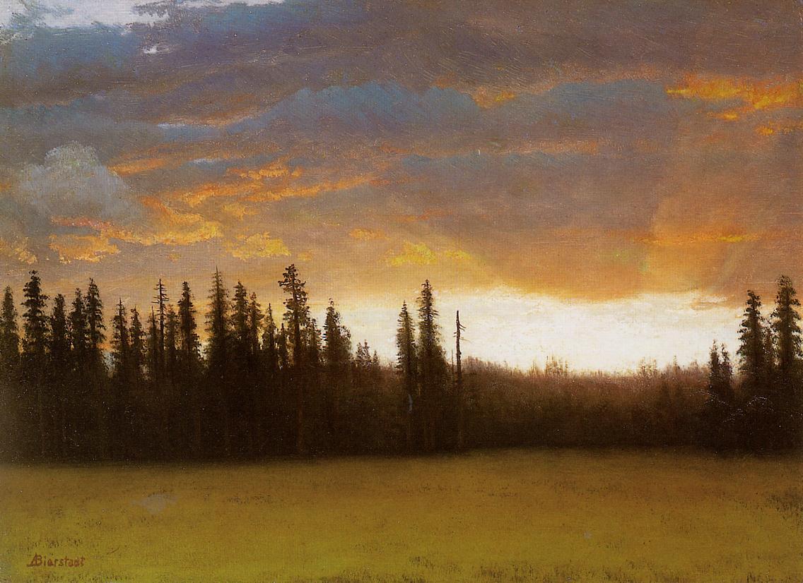California Sunset | Albert Bierstadt | Oil Painting