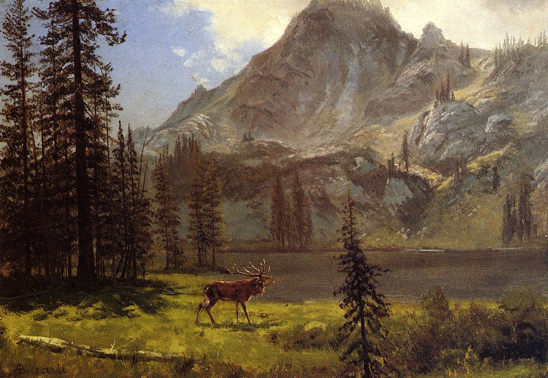 Call of the Wild | Albert Bierstadt | Oil Painting