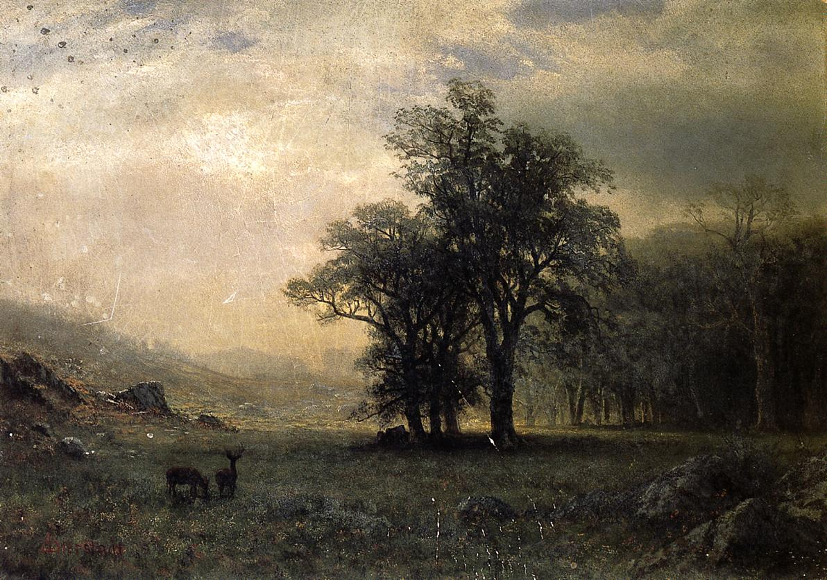Deer in a Landscape Date | Albert Bierstadt | Oil Painting