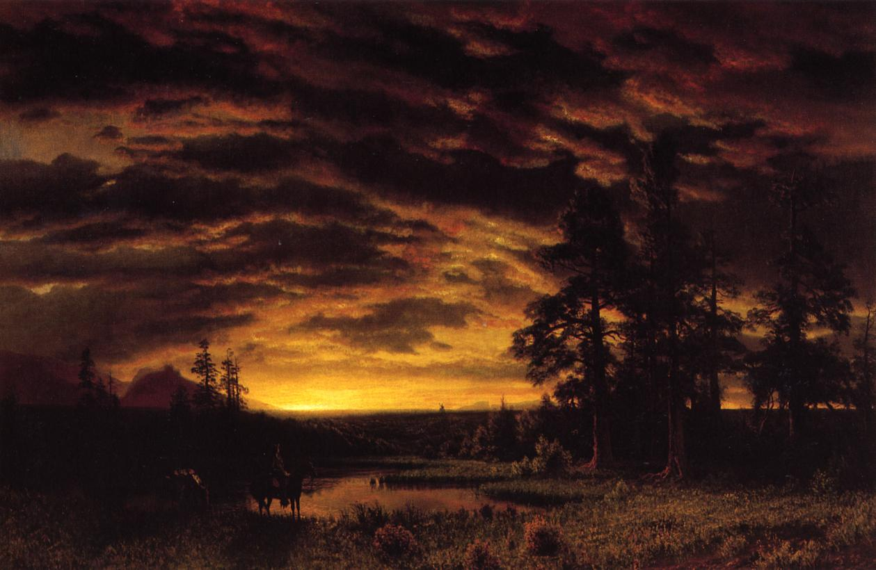 Evening on the Prarie 1870 | Albert Bierstadt | Oil Painting