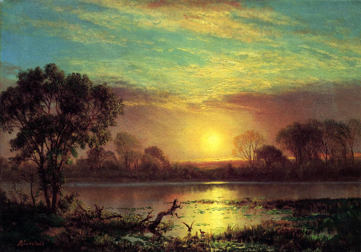 Evening Owens Lake California | Albert Bierstadt | Oil Painting