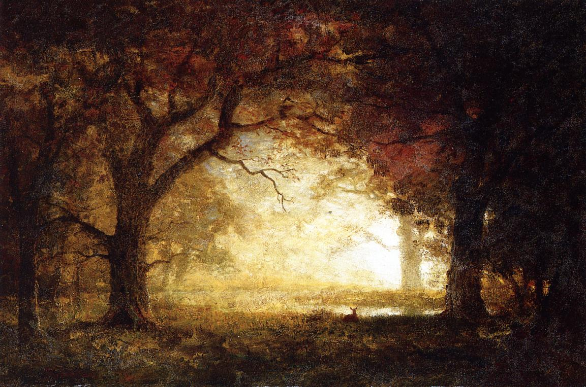 Forest Sunrise | Albert Bierstadt | Oil Painting