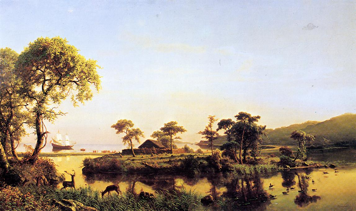 Gosnold at Cuttyhunk 1602 1858 | Albert Bierstadt | Oil Painting