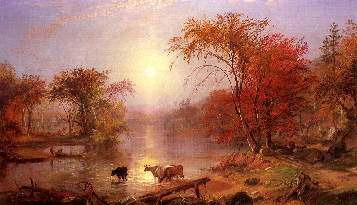 Indian Summer - Hudson River 1861 | Albert Bierstadt | Oil Painting
