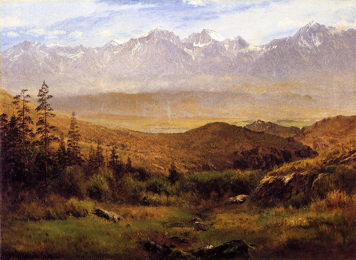 In the Foothills of the Mountais | Albert Bierstadt | Oil Painting