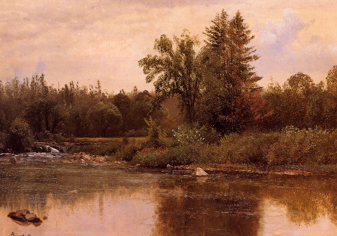 Landscape New Hampshire 1857-1859 | Albert Bierstadt | Oil Painting